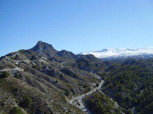 Vista del Trevenque con Sierra Nevada al fondo